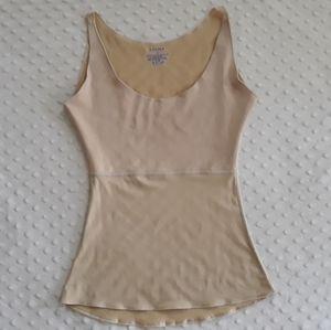 Spanx nude tan tank top shapewear Size S Small